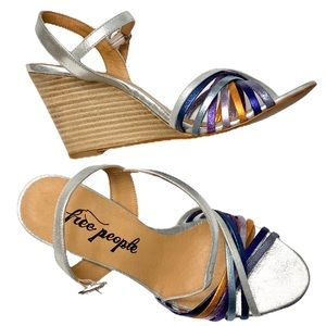 Free People Golden Hour Strappy Wedge Sandal